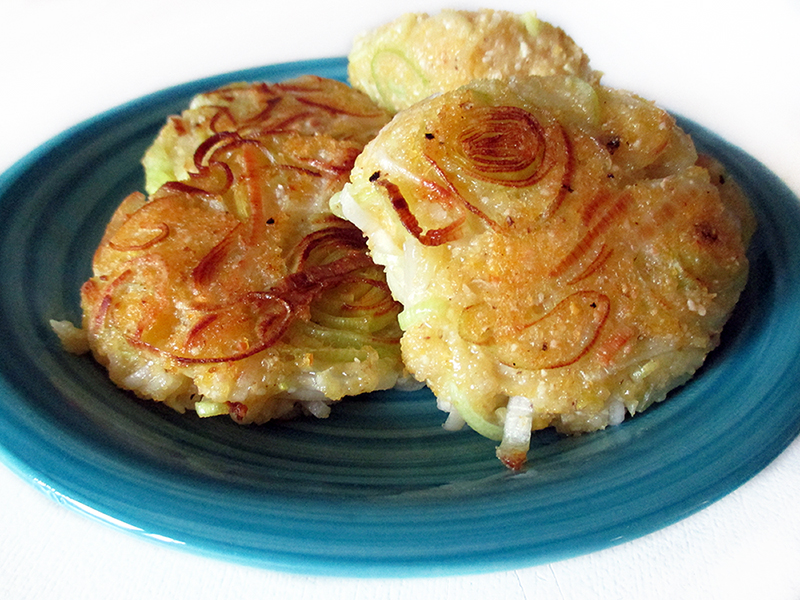Vegan Gluten free Leek Polenta Fritters Recipe 2