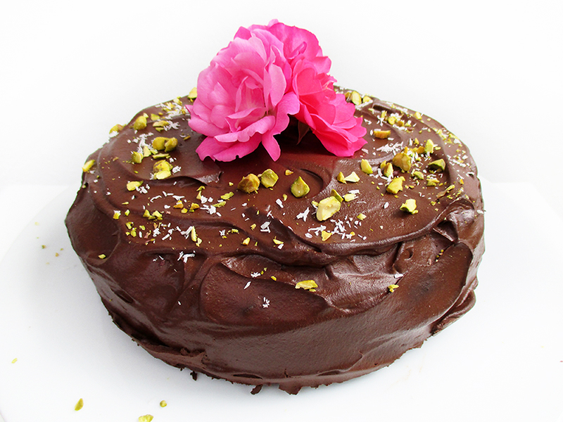 Vegan Gluten free Fruit Sweetened Chocolate Coffee Cake Recipe 1