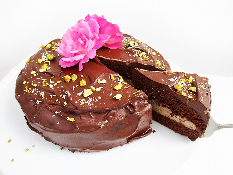Vegan Gluten free Fruit Sweetened Chocolate Coffee Cake Recipe 2
