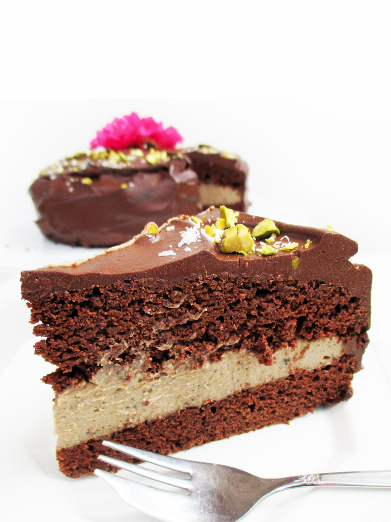 Vegan Gluten free Fruit Sweetened Chocolate Coffee Cake Recipe 3