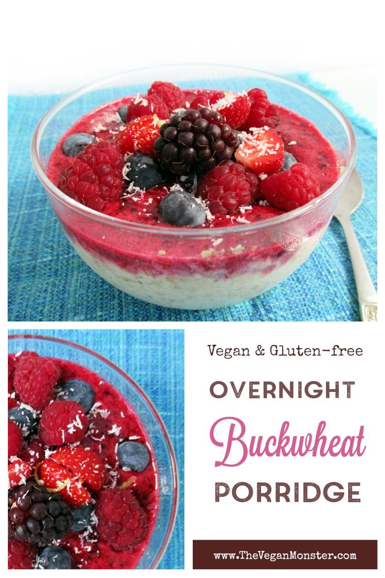 Vegan Gluten free Overnight Buckwheat Breakfast Porridge Recipe P
