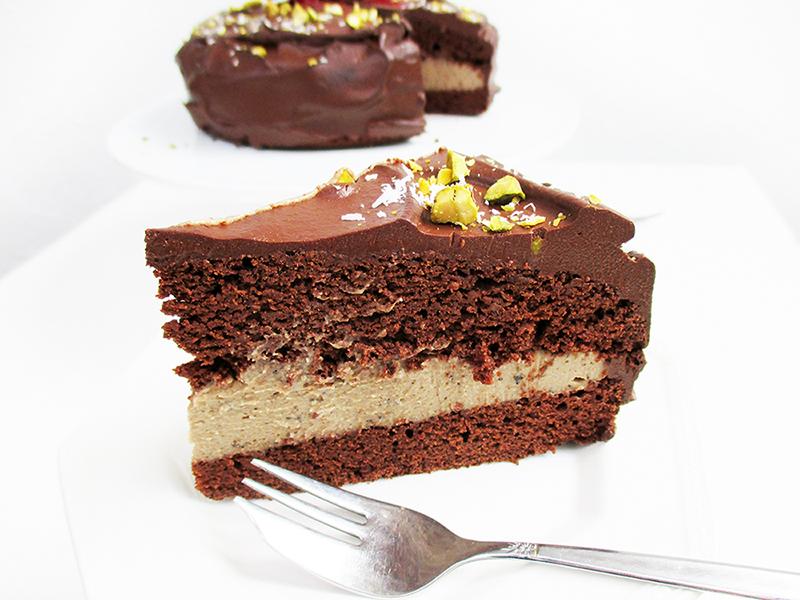 Vegane Glutenfreie Fruchtgesuesste Schoko Kaffee Kuchen Torte Rezept 6