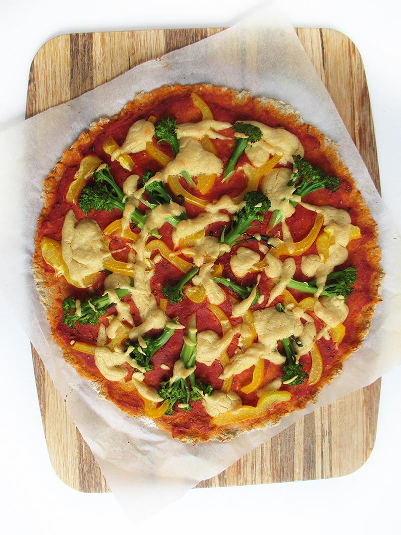 Vegan Gluten free Yeast free Pizza Crust Recipe 2