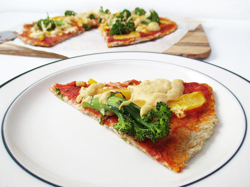 Vegan Gluten free Yeast free Pizza Crust Recipe 3