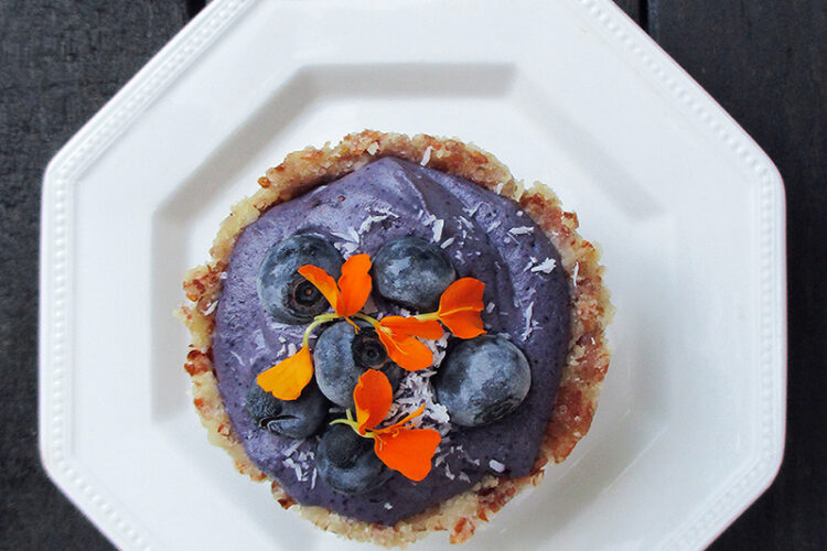 Vegane Glutenfreie Fruchtgesuesste Nix Backen Blaubeer Mini Kuchen Rezept 1 1