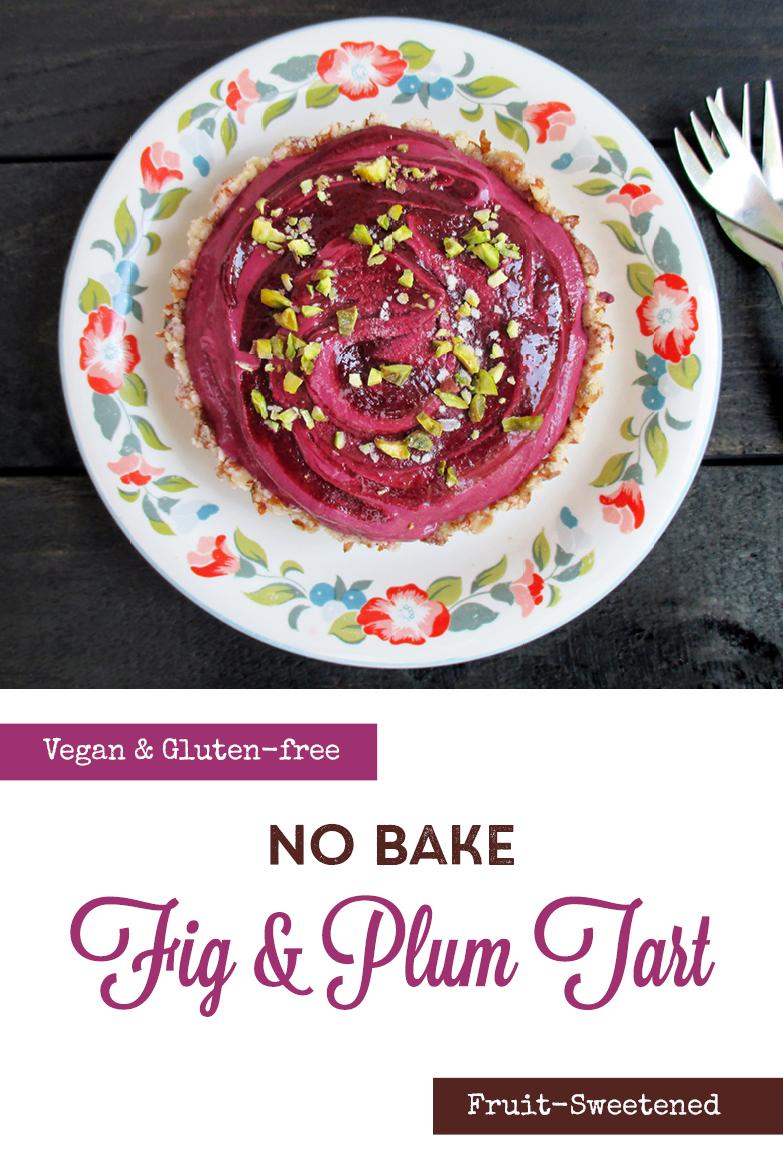 Vegan Gluten free No Bake Plum Fig Tart Cake Recipe P2