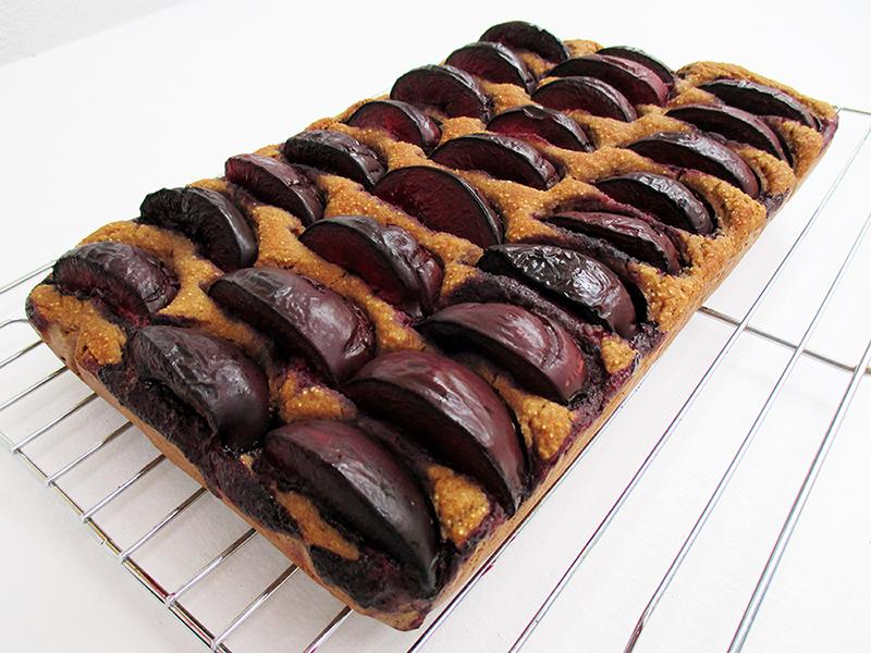 Vegan Gluten free Oil free Plum Cake Slice Recipe 3