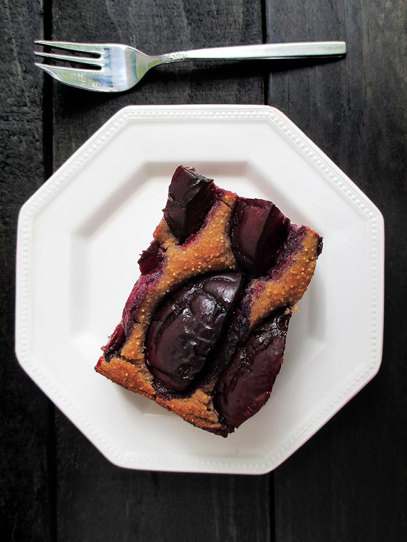 Vegan Gluten free Oil free Plum Cake Slice Recipe 4