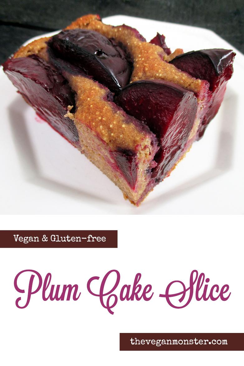 Vegan Gluten free Oil free Plum Cake Slice Recipe P2