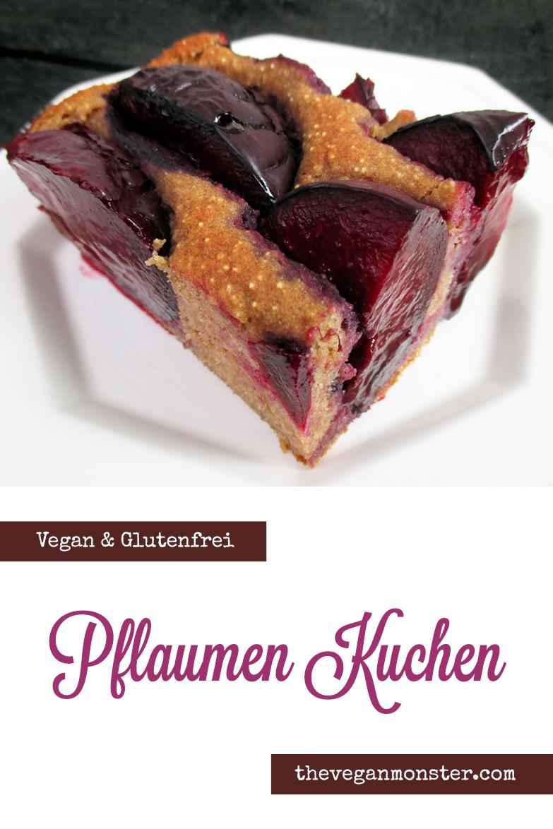 Pflaumenkuchen vegan & glutenfrei, ohne Nüsse