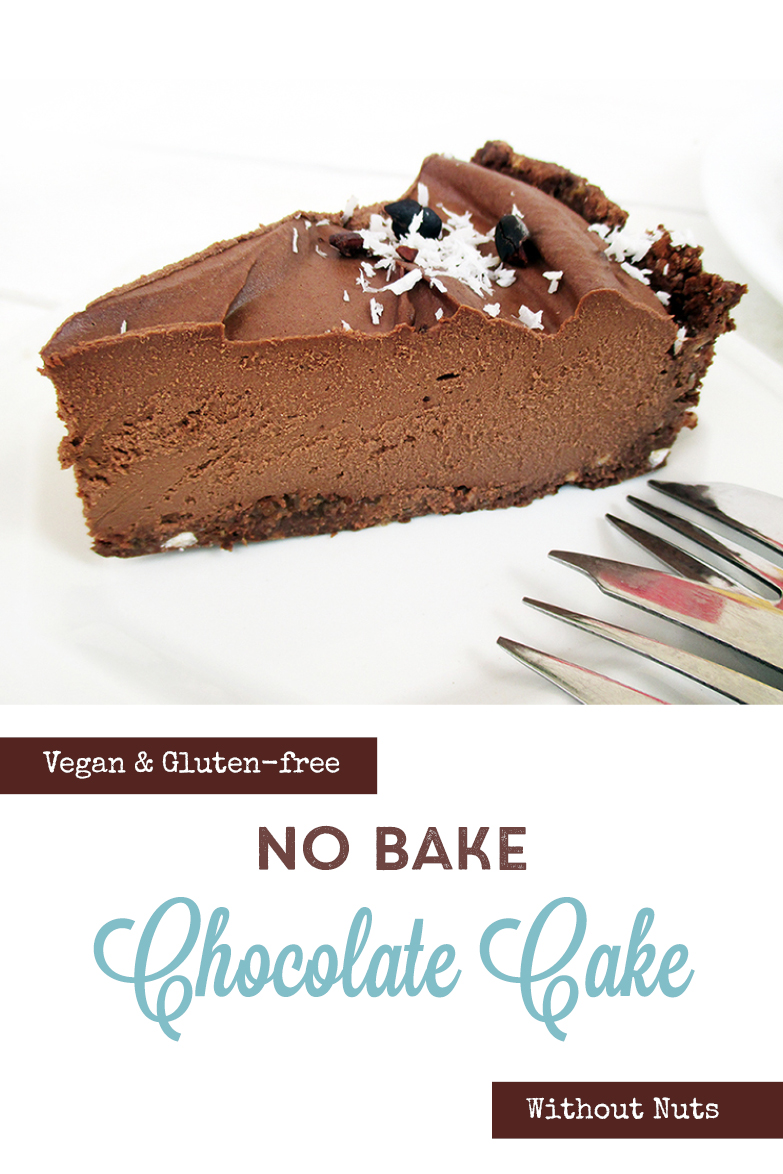 Vegan Gluten free Nut free Fruit Sweetened No Bake Chocolate Cake Recipe P2