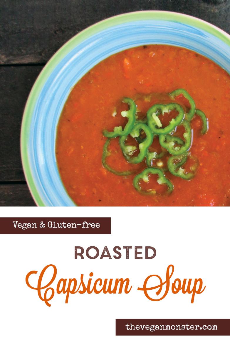 Vegan Gluten free Roasted Capsicum Soup Recipe P