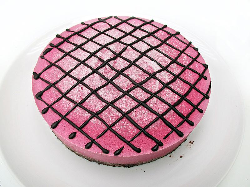 Vegan Gluten free Nut free No Bake Raspberry Chocolate Tart Cake Recipe 1