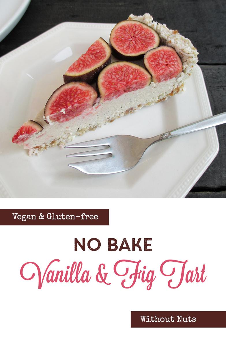 Vegan Gluten free Nut free No Bake Vanilla Fig Tart Fruit Sweetened Recipe P2
