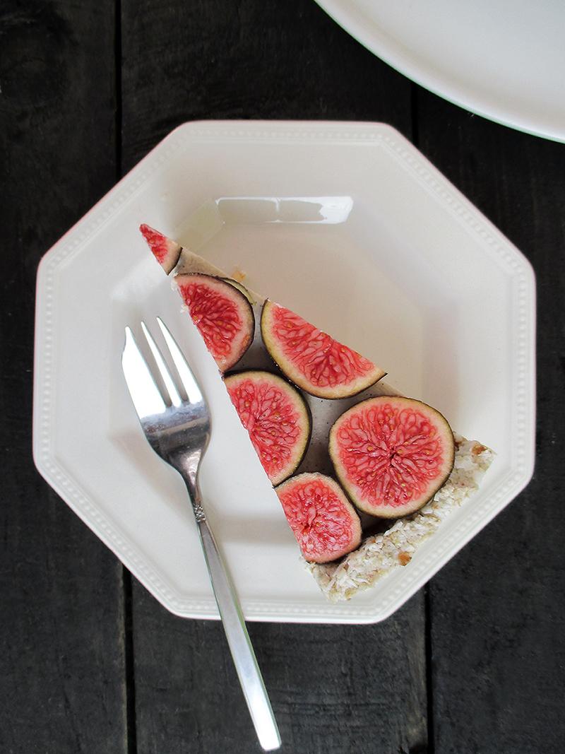 Vegane Glutenfreie Fruchtgesuesste Nix Backen Vanille Feigen Torte Rezept 4