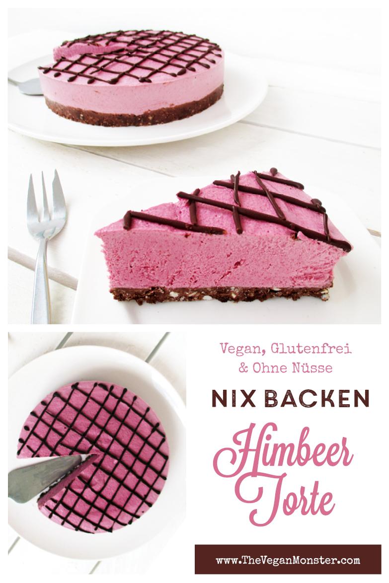 Vegane Glutenfreie Nix Backen Himbeer Schoko Torte Kuchen Ohne Nuesse Rezept P3