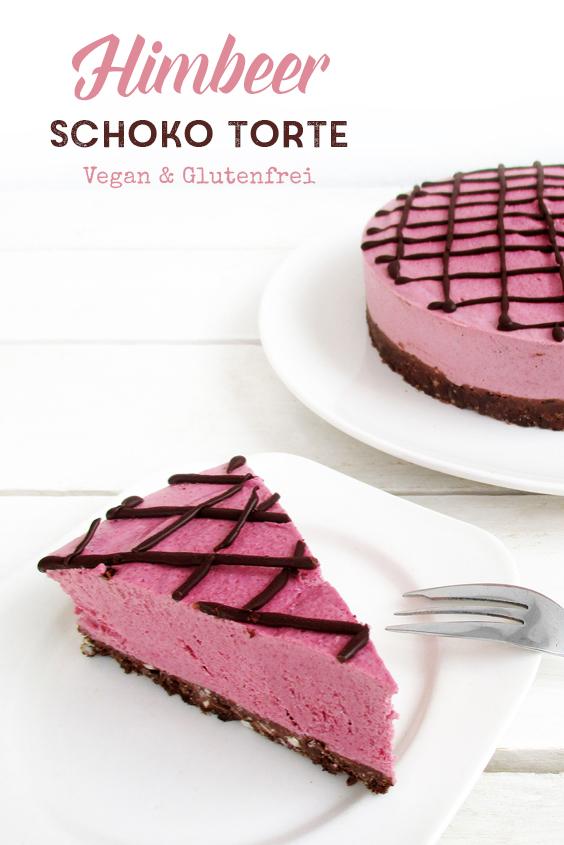 Vegane Glutenfreie Nix Backen Himbeer Schoko Torte Kuchen Ohne Nuesse Rezept P6