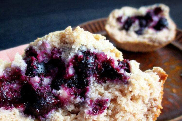 Vegan Gluten-free Fruit-Sweetened Oil-free Mini Cakes With Black Current Recipe