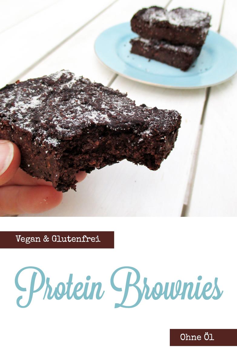 Vegane Glutenfreie Schoko Protein Brownies Ohne Oel Rezept P4