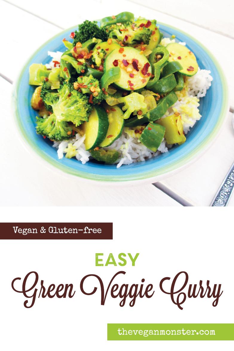 Vegan Gluten free Easy Green Vegetable Curry Recipe P1