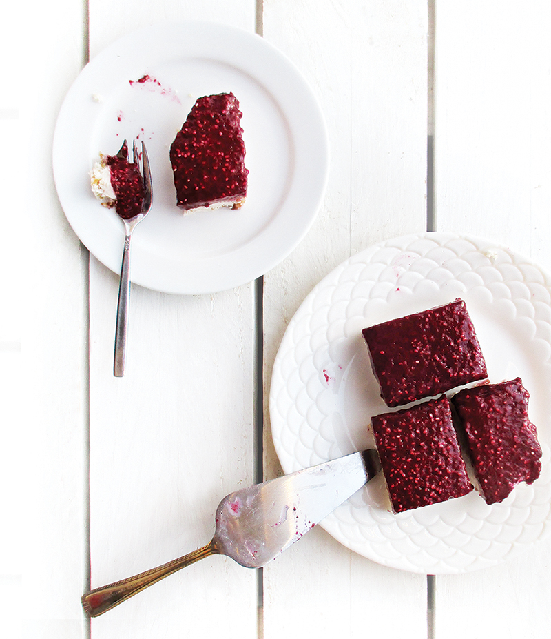 Vegan Gluten free No Bake Berry Coconut Cake Slices Fruit Sweetened Recipe 5