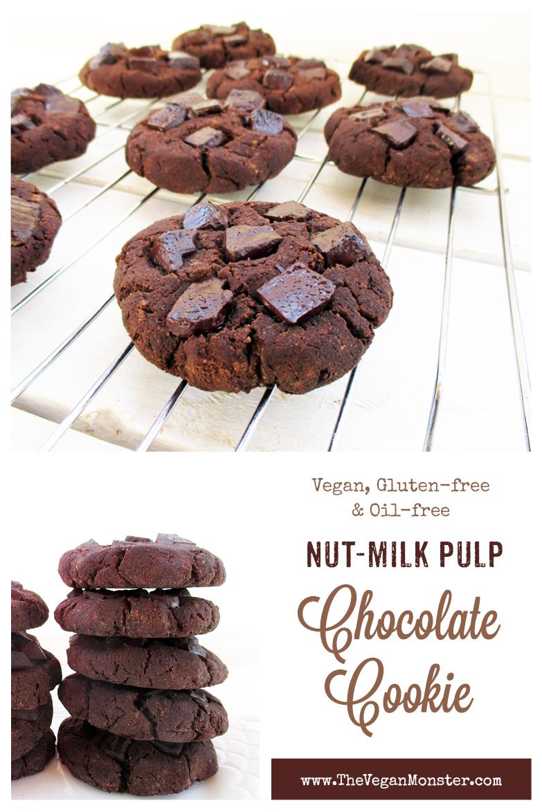 Vegan Gluten free Oil free Nut Milk Pulp Cookie Recipe P