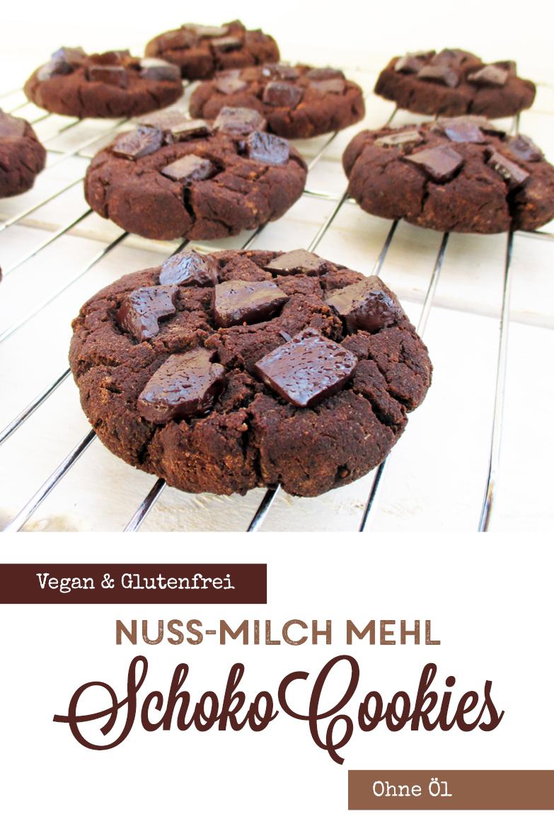 Vegane Glutenfreie Nussmilch Mehl Schoko Kekse Cookies Ohne Oel Rezept P2