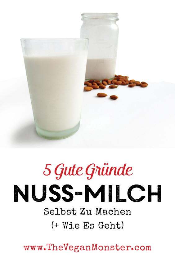 Vegane Nuss Milch Selbstmachen Anleitung Rezept P1