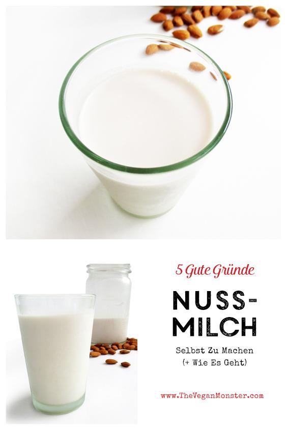 Vegane Nuss Milch Selbstmachen Anleitung Rezept P2