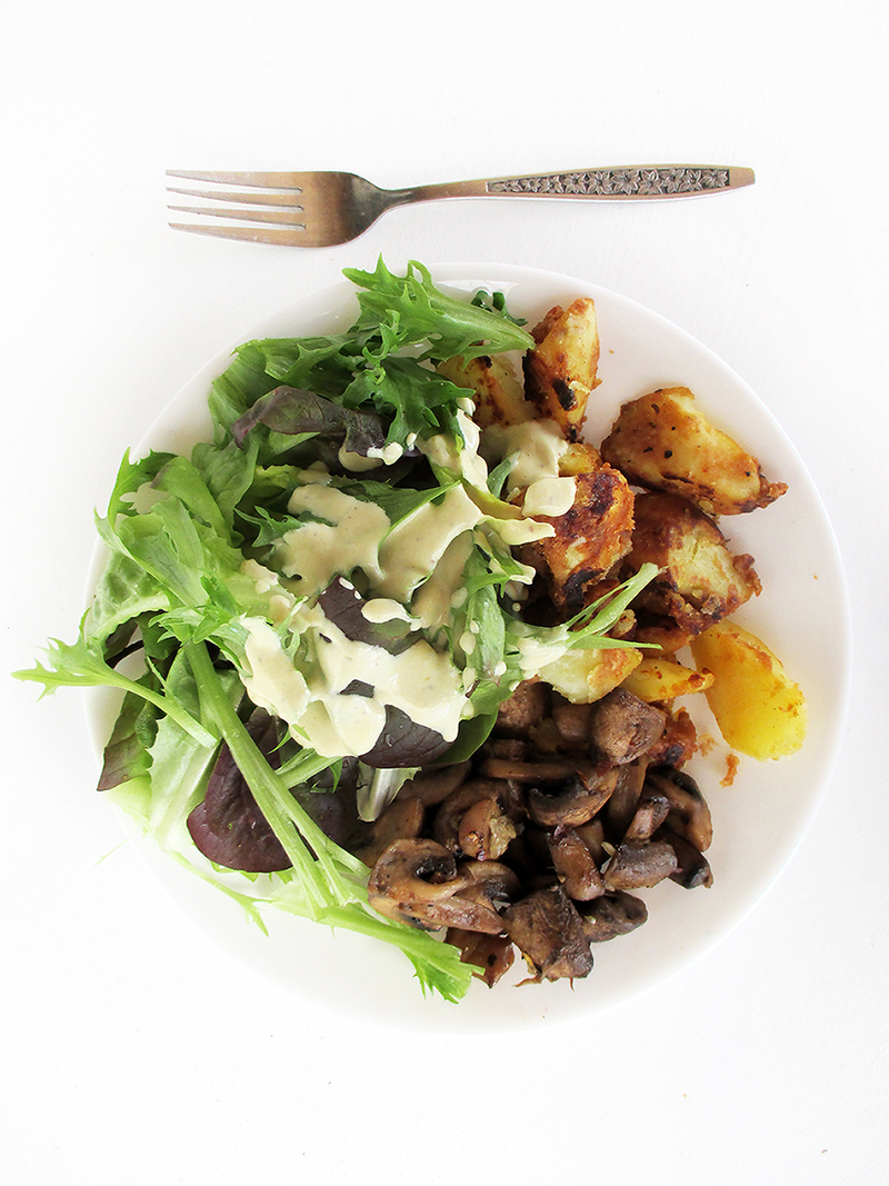 Vegan Gluten free Oil free Easy Creamy Mustard Dressing Recipe 4