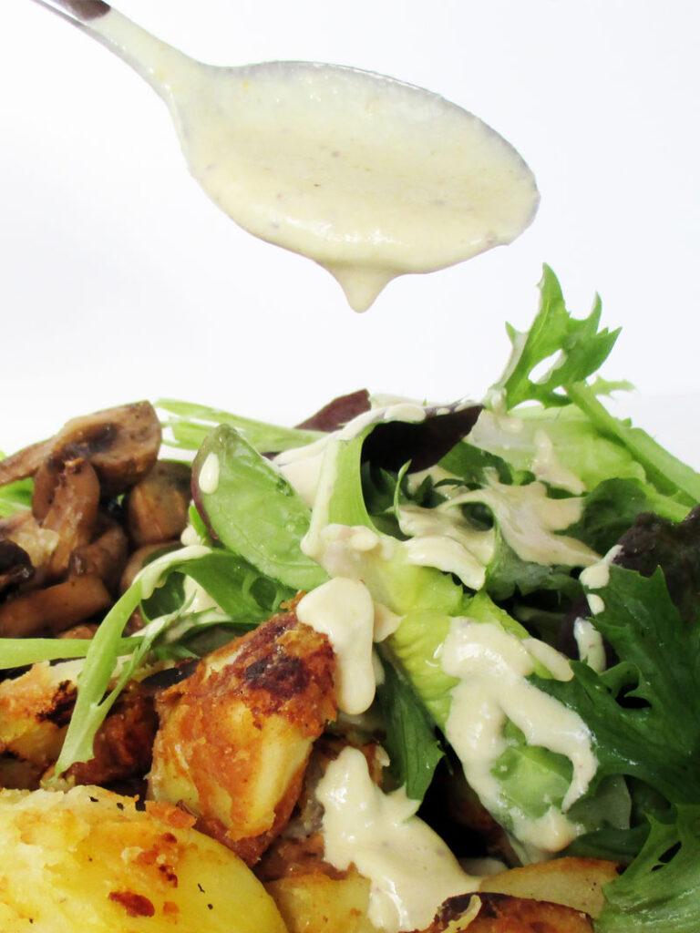 Vegan Gluten-free Oil-free Easy Creamy Mustard Dressing Recipe