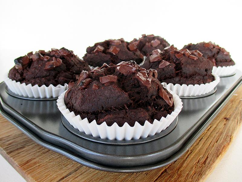 Vegan Gluten free Oil free Nut Milk Pulp Chocolate Muffins Recipe 2
