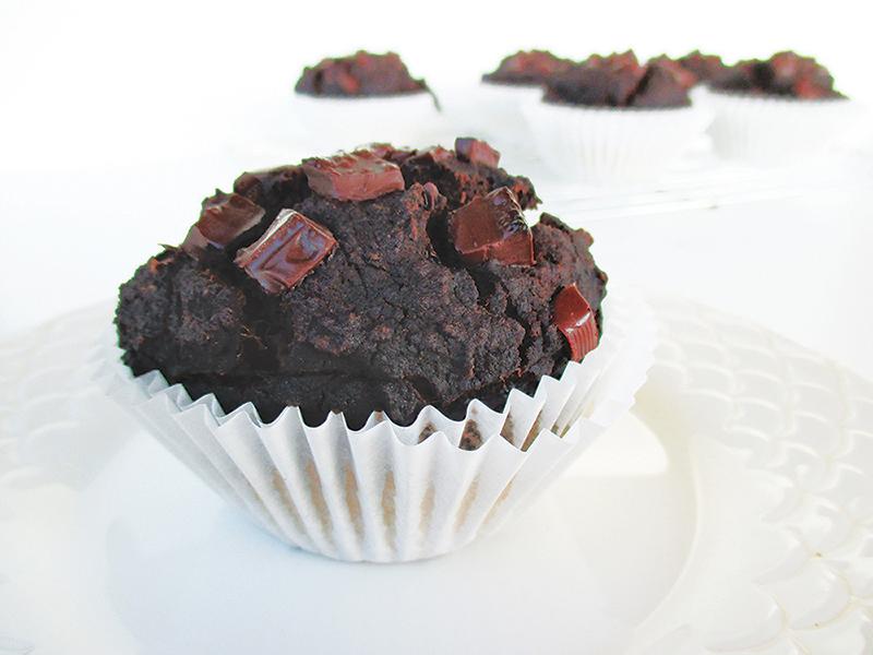 Vegan Gluten free Oil free Nut Milk Pulp Chocolate Muffins Recipe 3