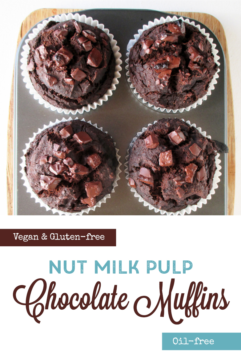 Vegan Gluten free Oil free Nut Milk Pulp Chocolate Muffins Recipe P