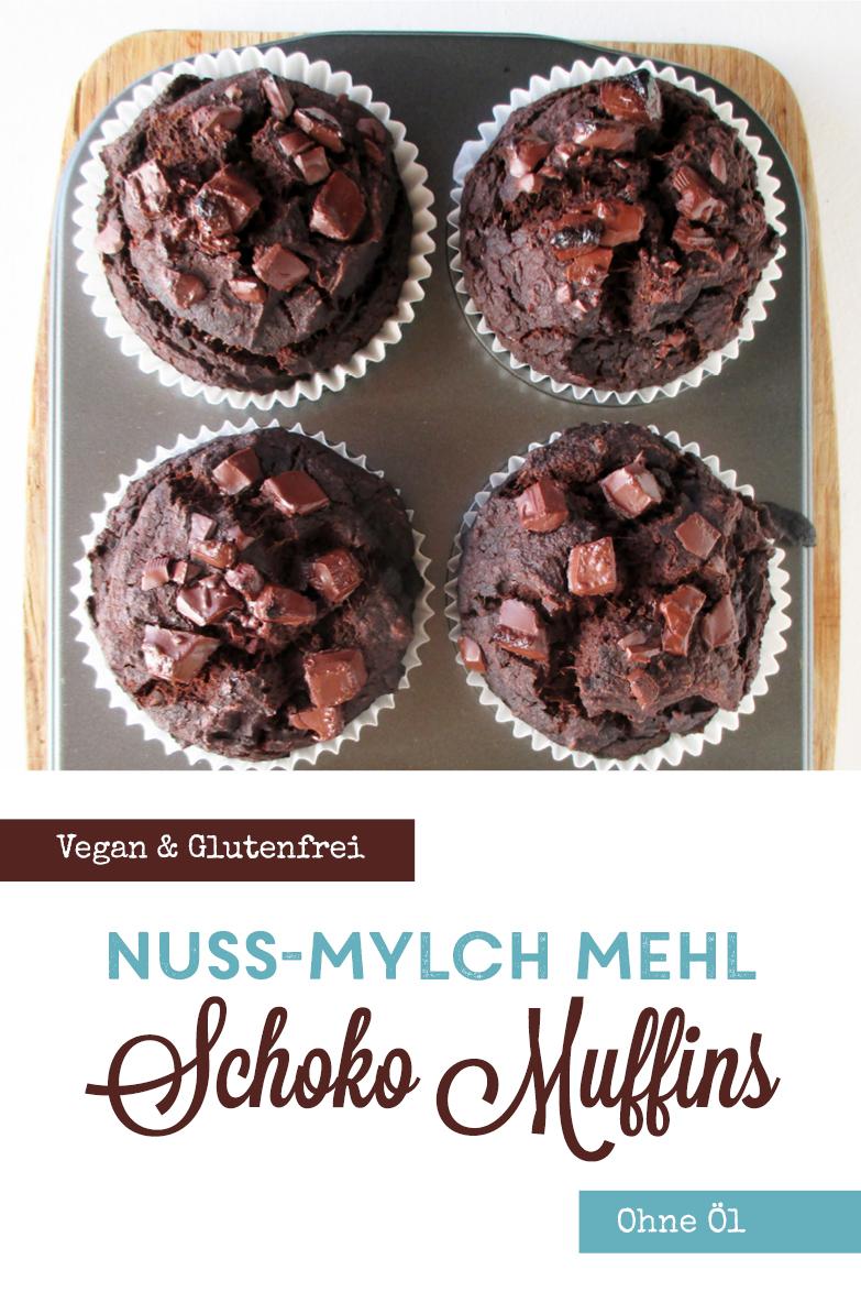 Vegan Glutenfrei Nuss Milch Mehl Schoko Muffins Ohne Oel Rezept P1