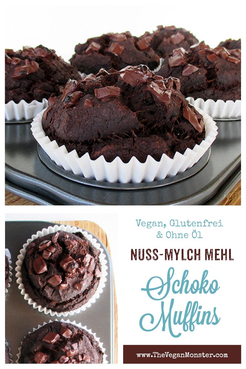 Vegan Glutenfrei Nuss Milch Mehl Schoko Muffins Ohne Oel Rezept P2