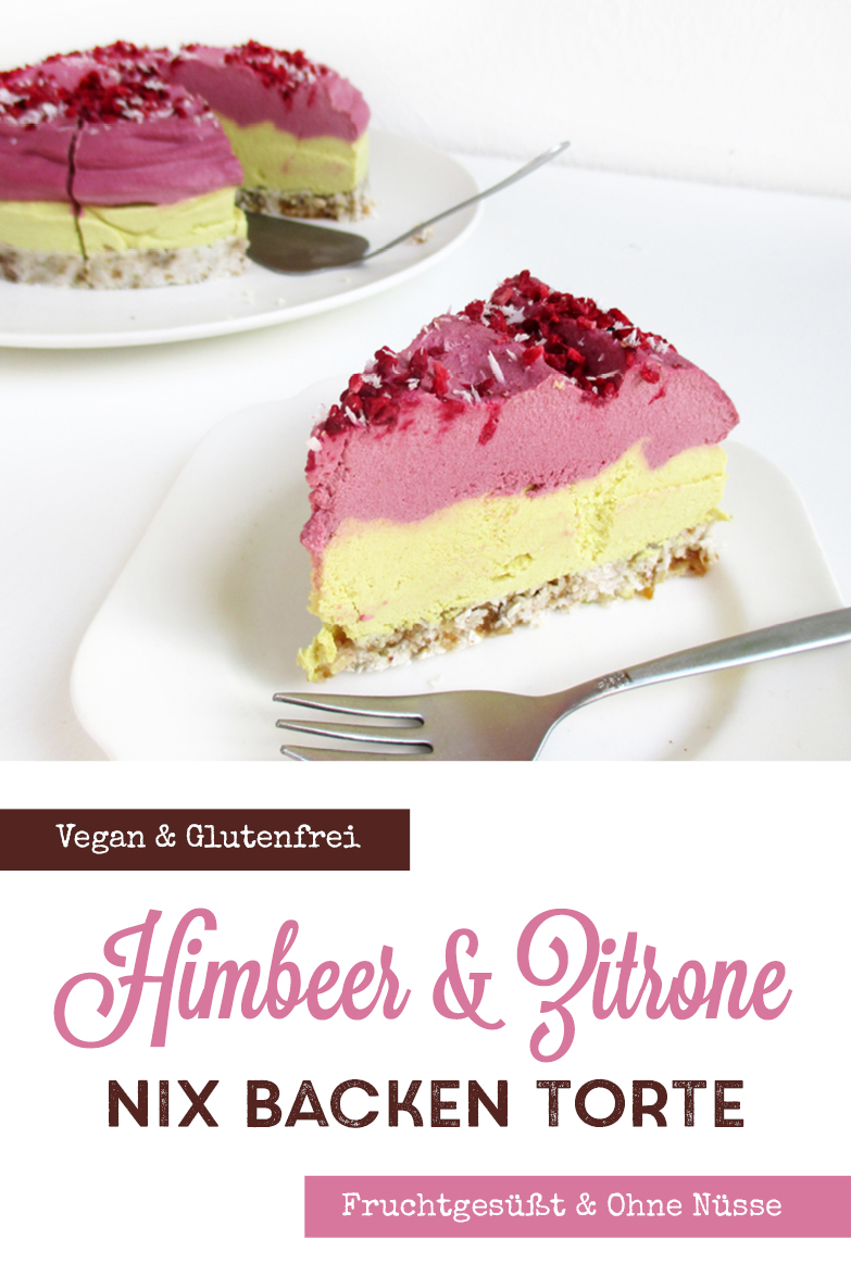 Vegane Glutenfreie Fruchtgesuesste Nix Backen Zitronen Himbeer Nix Backen Kuchen Torte Rezept P1