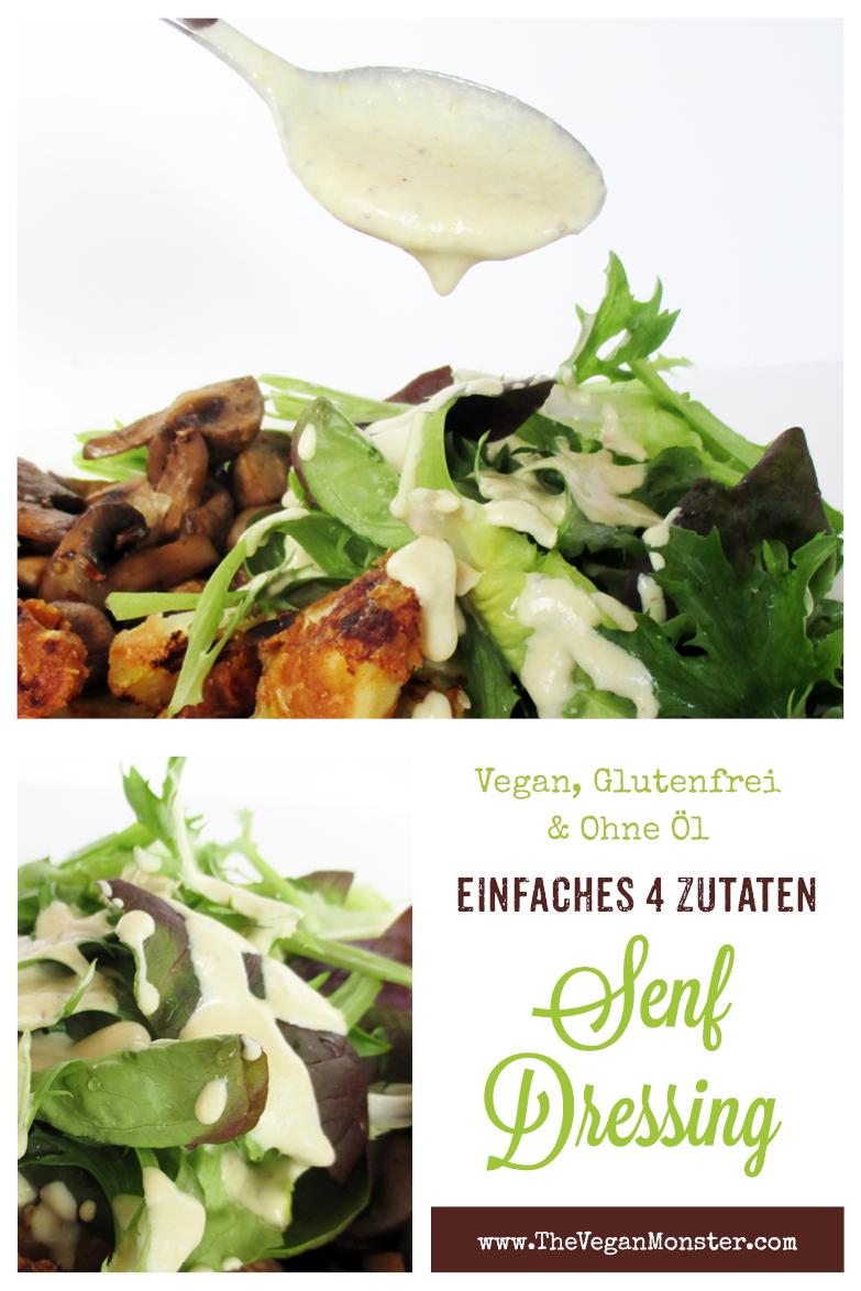 Veganes Glutenfreies Einfaches Senf Salat Dressing Ohne Oel Rezept P1
