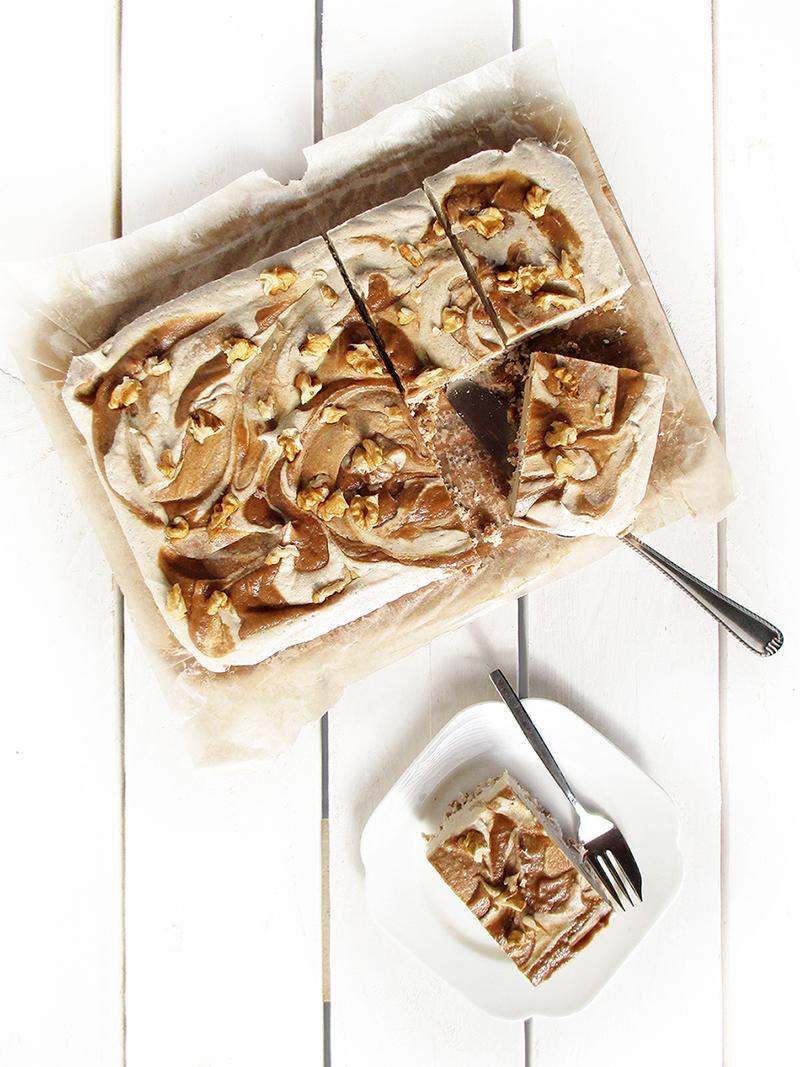 Vegan Gluten free Fruit Sweetened No Bake Salted Caramel Cake Slices Recipe 1