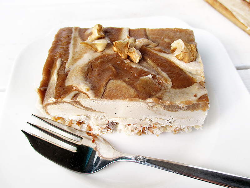 Vegan and gluten-free salted caramel slices