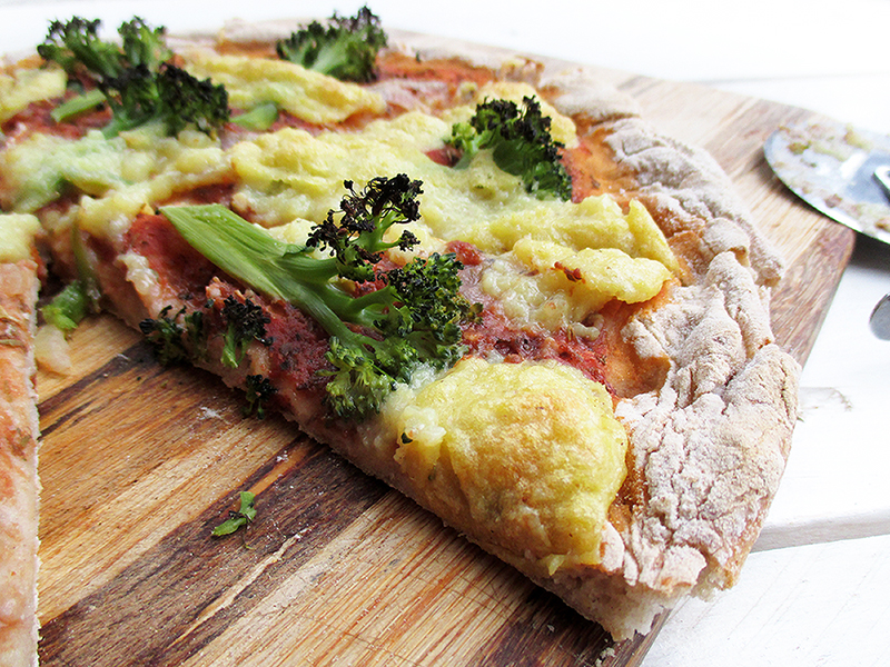 Vegan Gluten free Pizza With Nut free Dairy free Cheese Recipe 3