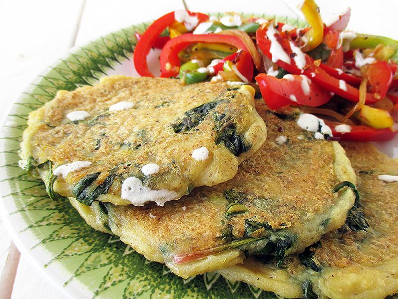 Vegan Gluten free Potato Spinach Fritters Recipe 0