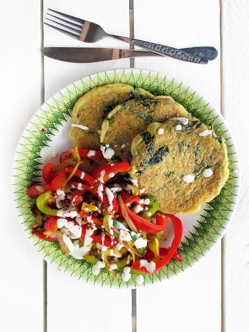 Vegan Gluten free Potato Spinach Fritters Recipe 1