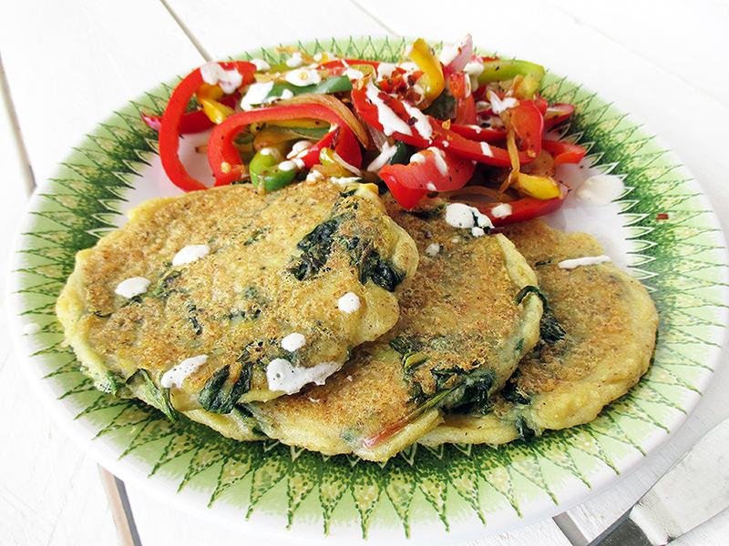 Vegan Gluten free Potato Spinach Fritters Recipe 2