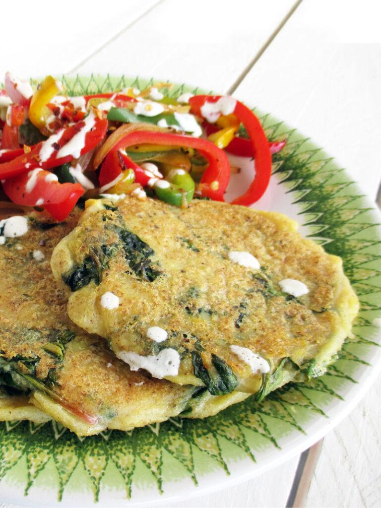Vegan Gluten free Potato Spinach Fritters Recipe 3