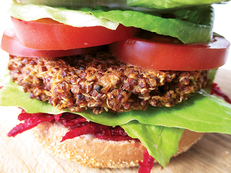 Vegan Gluten free Quinoa Burger Recipe 2