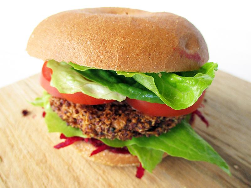 Vegan / Vegetarian Quinoa Burger, That Won't Fall Apart