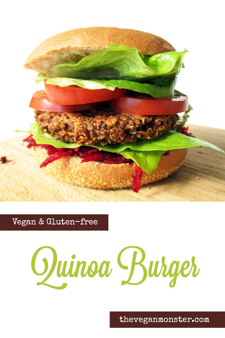 Vegan Gluten free Quinoa Burger Recipe P
