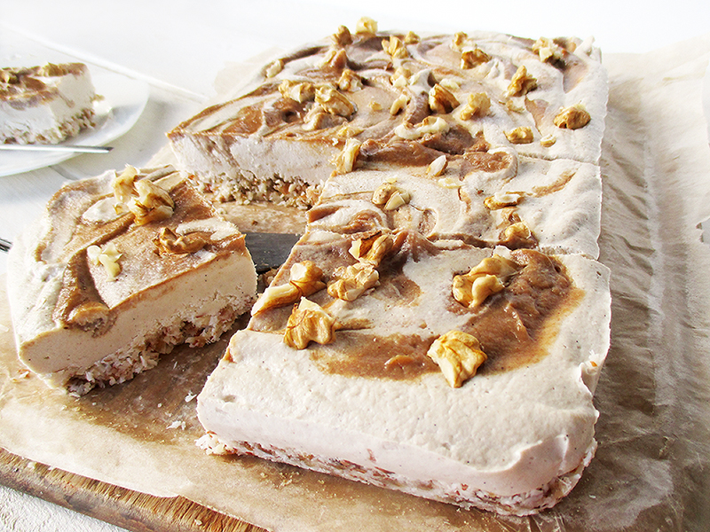 Vegane Glutenfreie Nix Backen Salted Karamell Kuchen Schnitten Fruchtgesuesst Rezept 4
