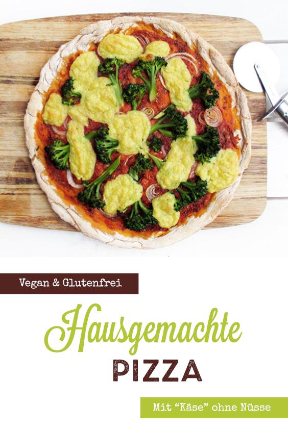 Vegane Glutenfreie Pizza mit Kaese Ohne Nuesse Rezept P1